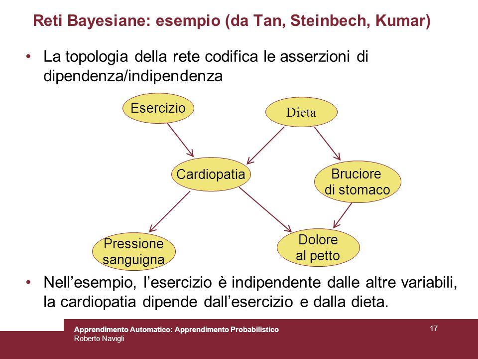 Reti Bayesiane: esempio (da Tan, Steinbech, Kumar)