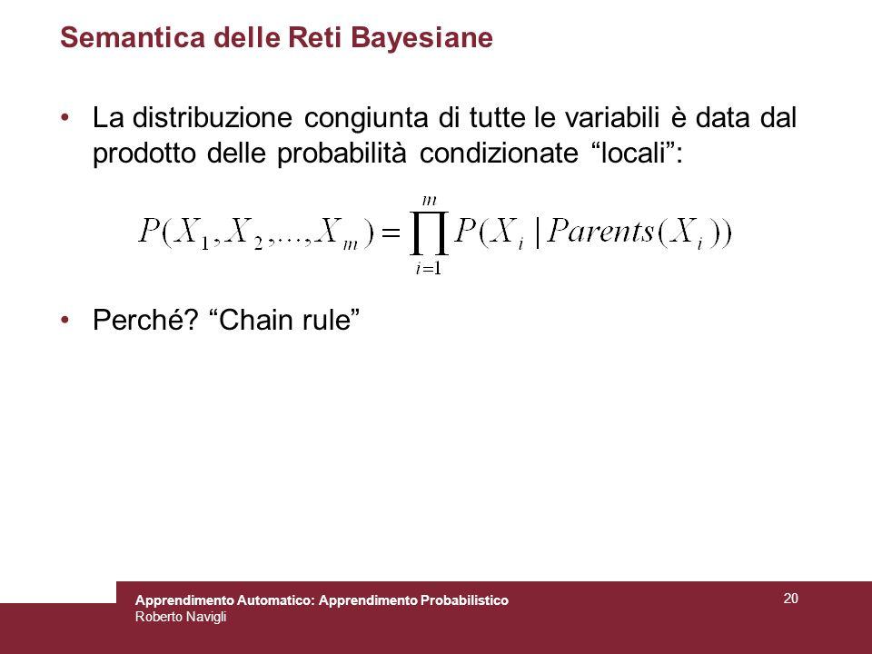 Semantica delle Reti Bayesiane