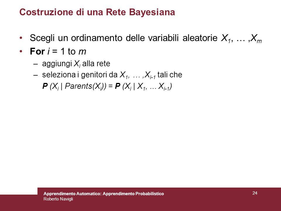 Costruzione di una Rete Bayesiana
