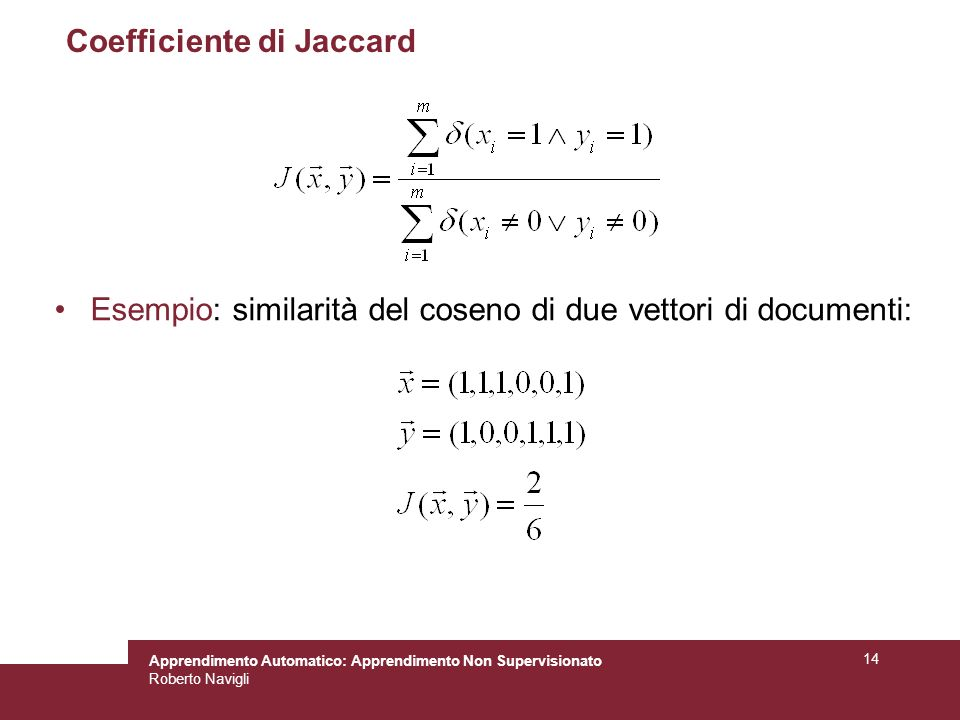 Coefficiente di Jaccard