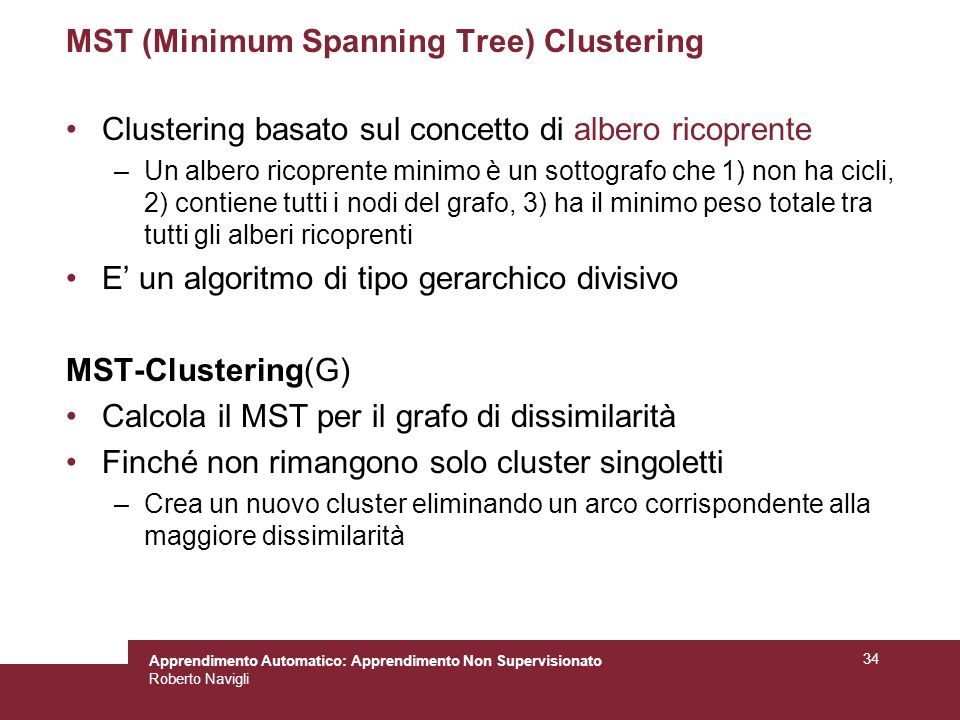 MST (Minimum Spanning Tree) Clustering