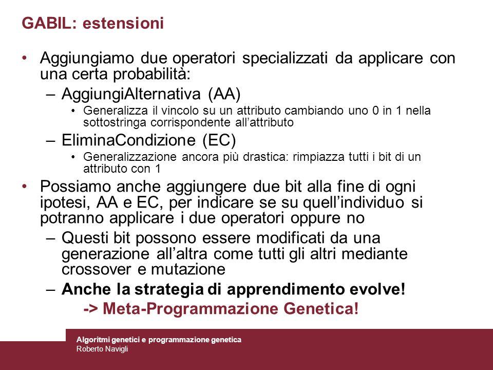 AggiungiAlternativa (AA) EliminaCondizione (EC)