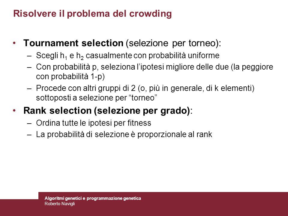 Risolvere il problema del crowding