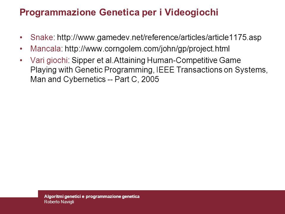 Programmazione Genetica per i Videogiochi