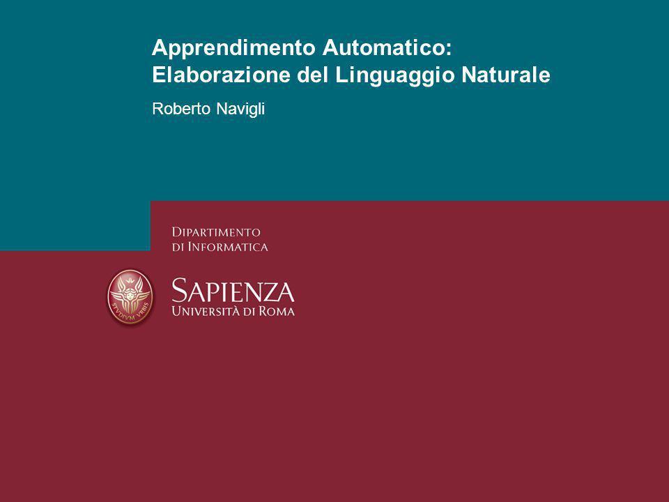 Apprendimento Automatico: Elaborazione del Linguaggio Naturale