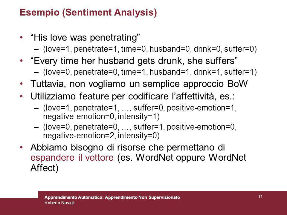 Esempio (Sentiment Analysis)