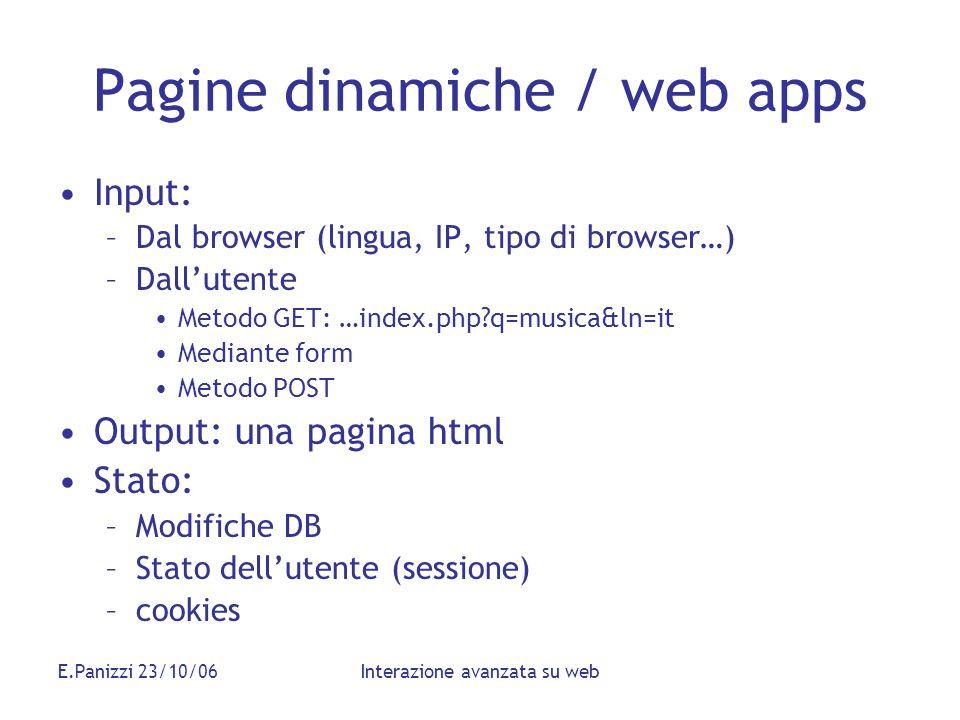 Pagine dinamiche / web apps