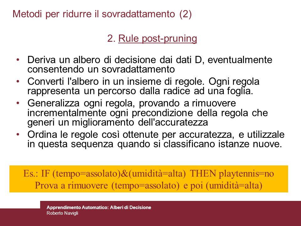 Metodi per ridurre il sovradattamento (2)