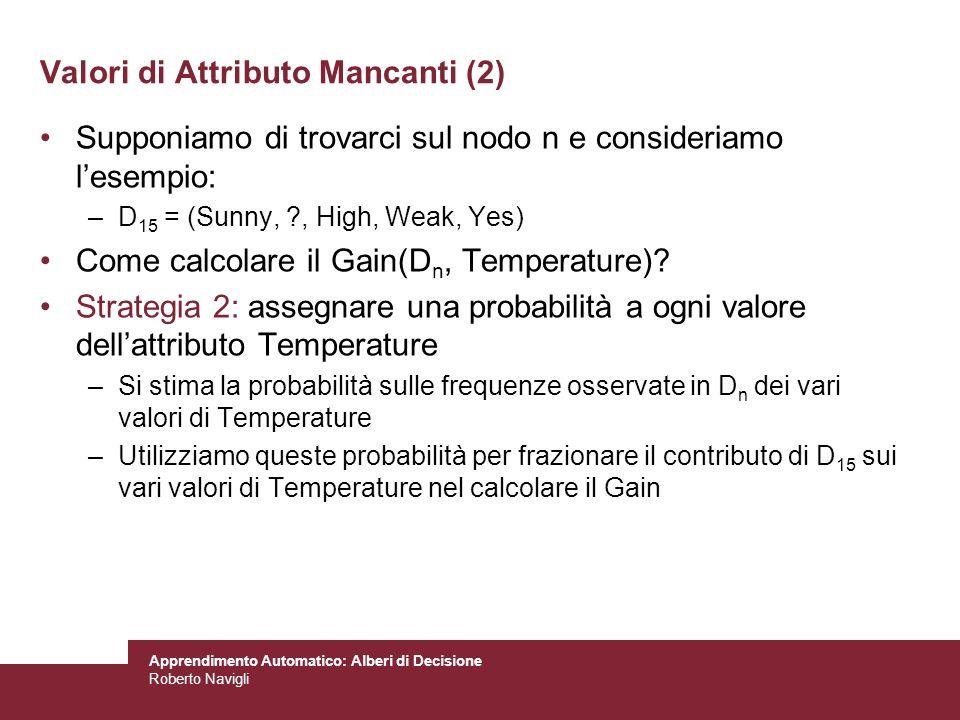 Valori di Attributo Mancanti (2)