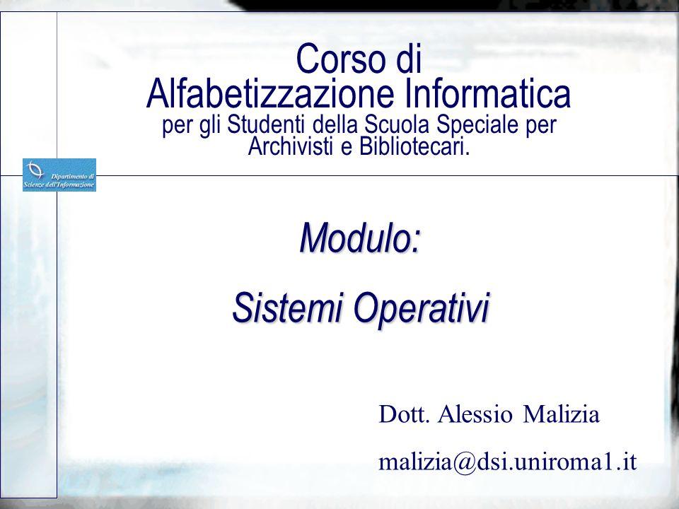 Modulo: Sistemi Operativi