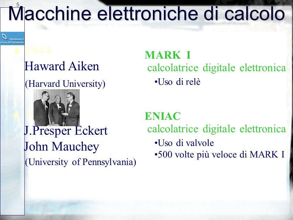 Macchine elettroniche di calcolo