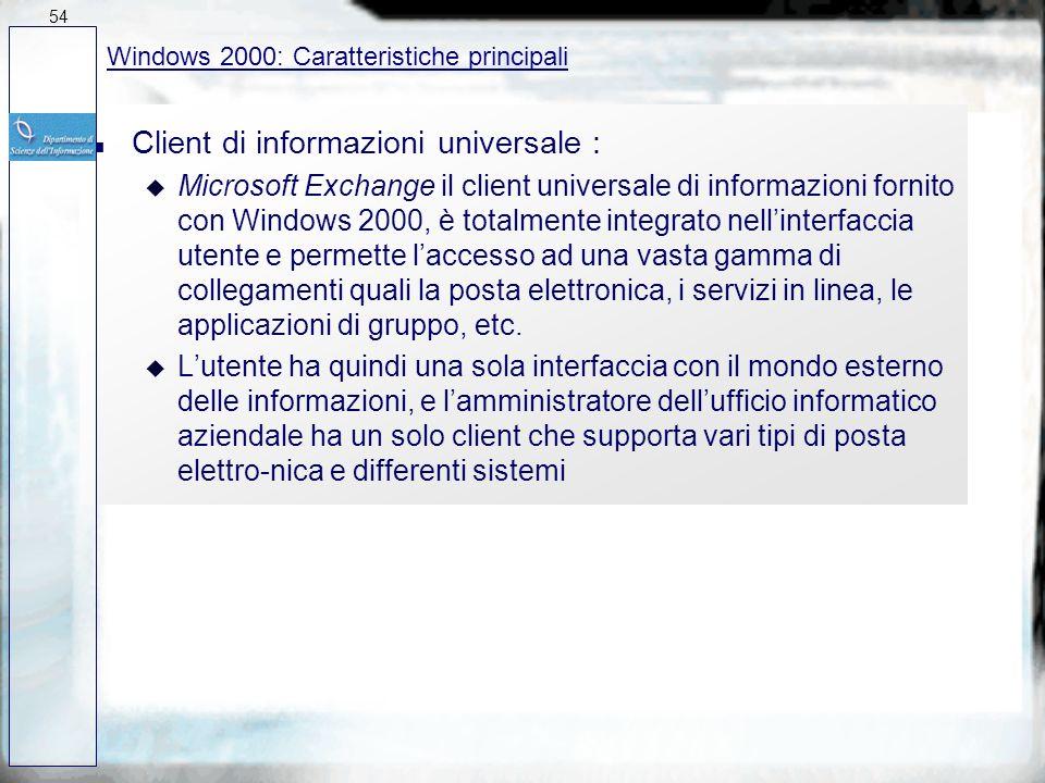 Client di informazioni universale :