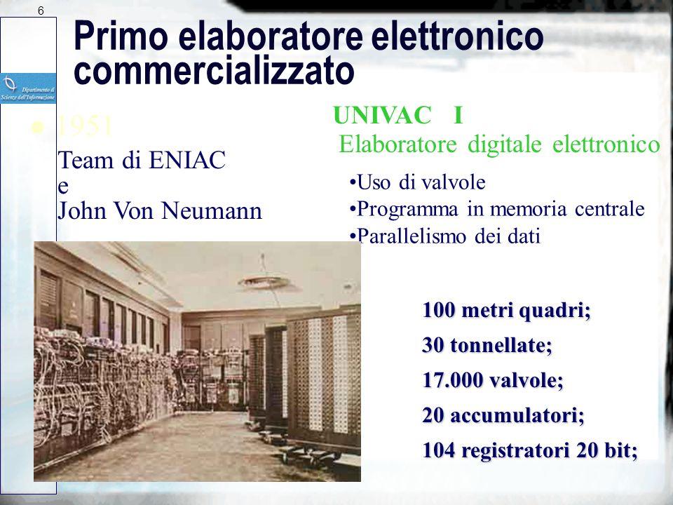 Primo elaboratore elettronico commercializzato