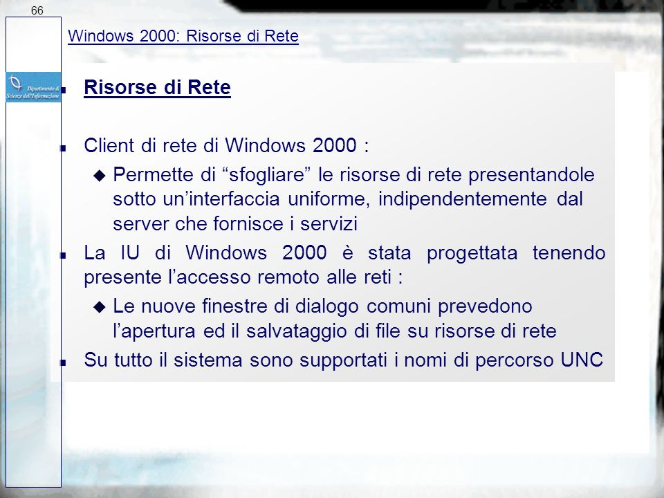 Client di rete di Windows 2000 :