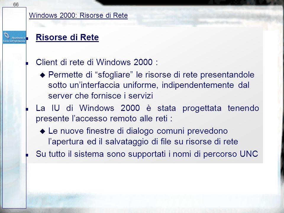 Client di rete di Windows 2000 :
