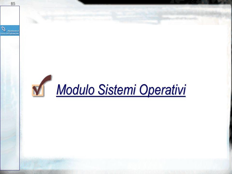Modulo Sistemi Operativi