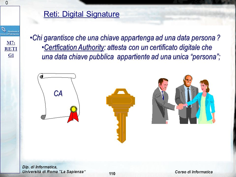 Reti: Digital Signature