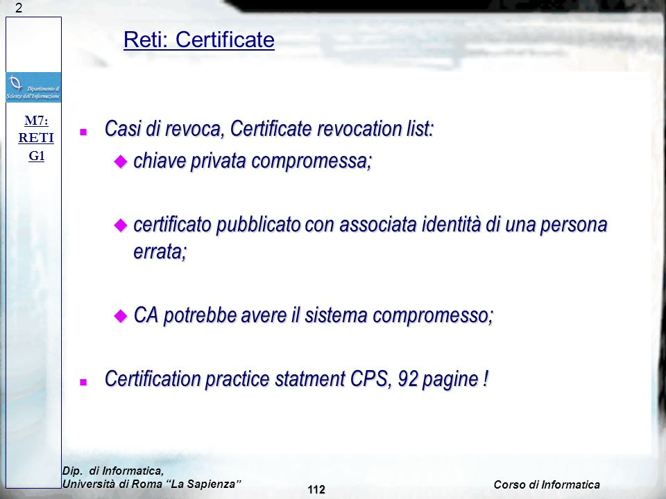 Casi di revoca, Certificate revocation list: