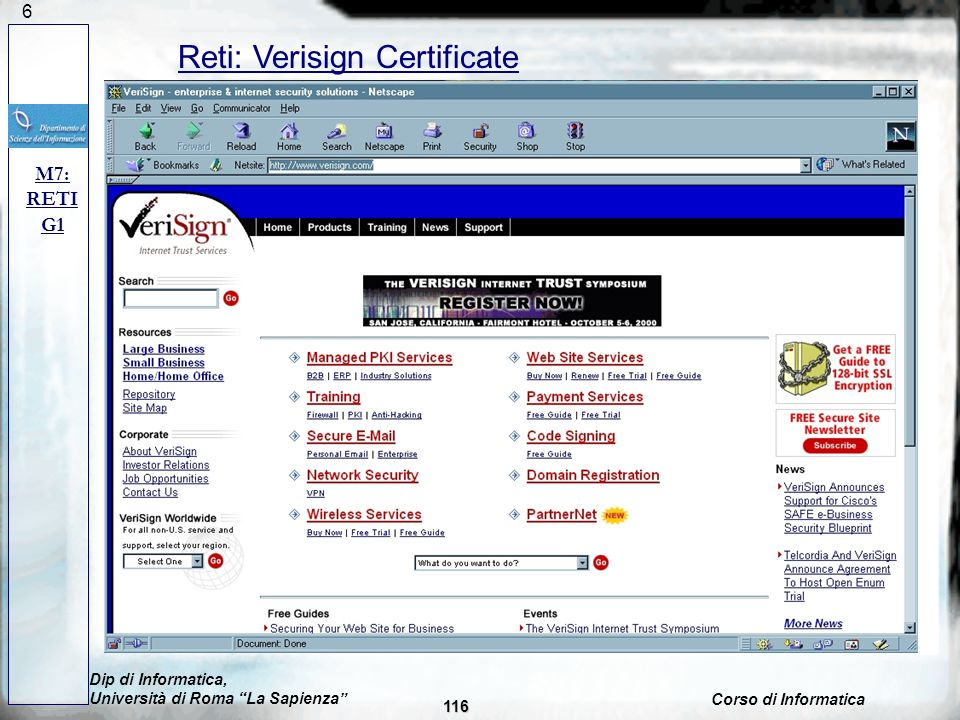 Reti: Verisign Certificate