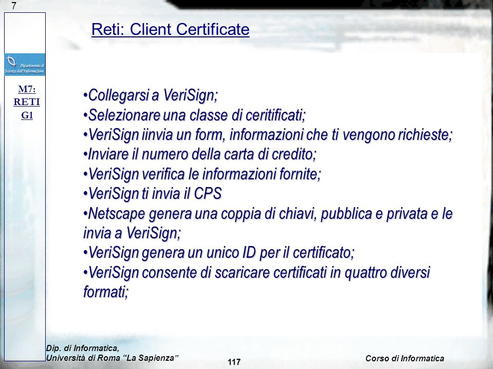 Reti: Client Certificate