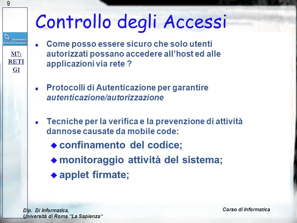 Controllo degli Accessi