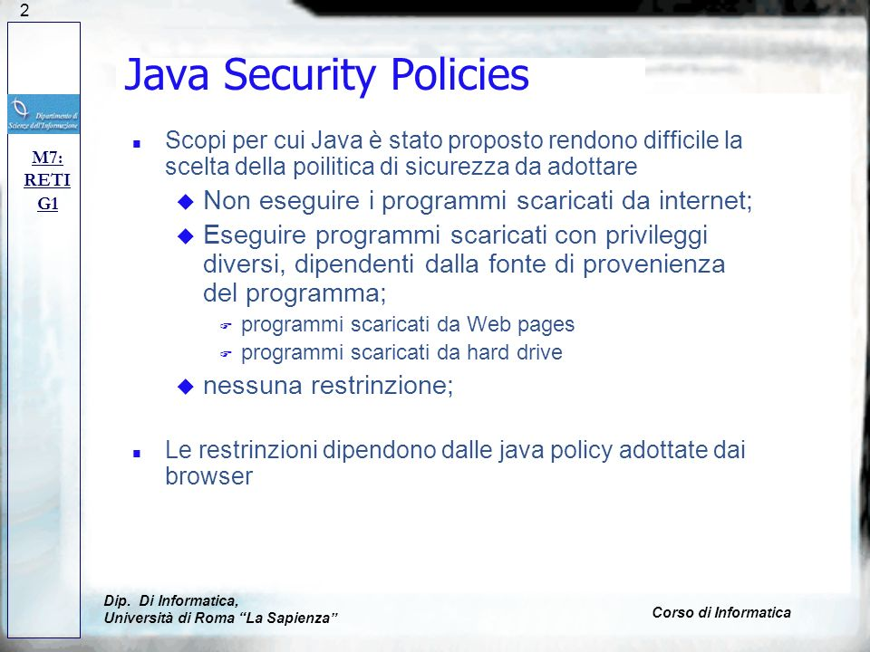 Java Security Policies