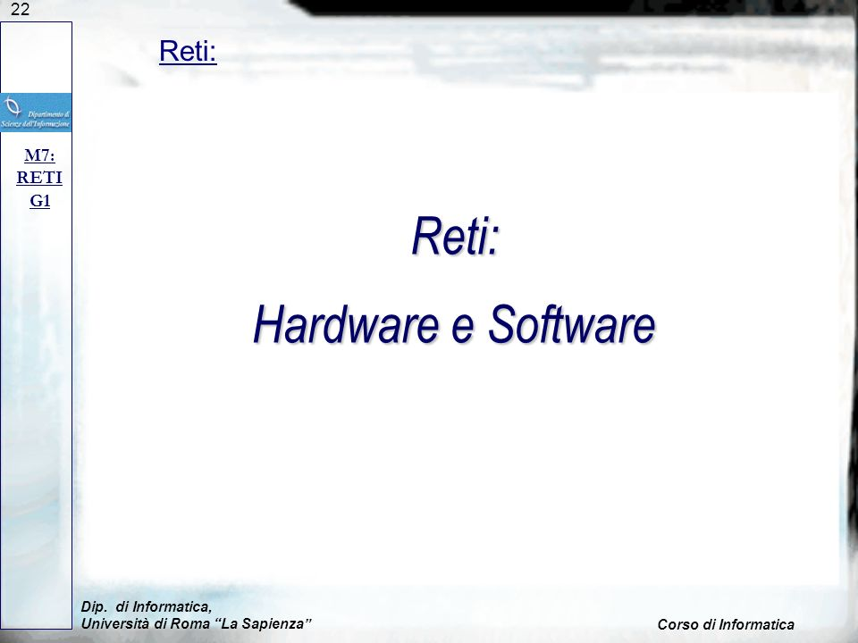 Reti: Hardware e Software