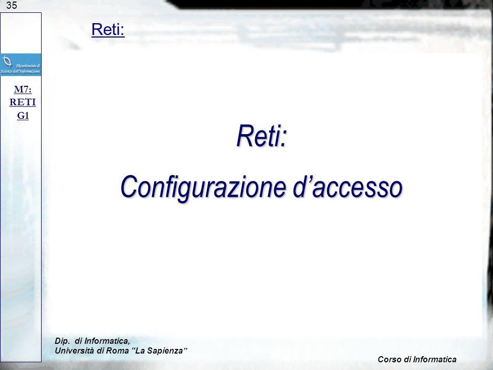 Reti: Configurazione d'accesso