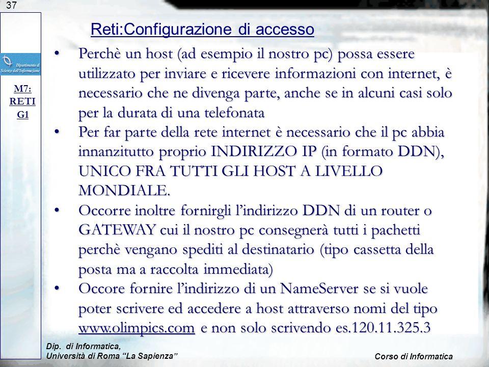 Reti:Configurazione di accesso