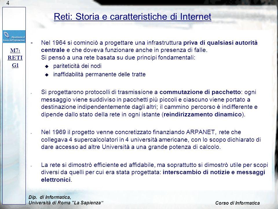 Reti: Storia e caratteristiche di Internet