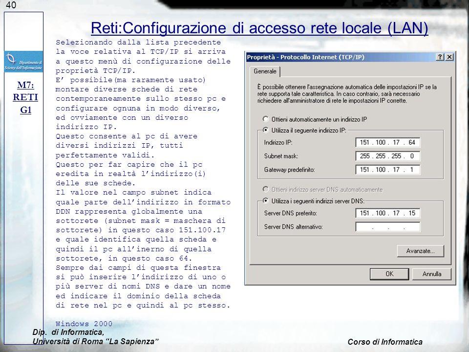 Reti:Configurazione di accesso rete locale (LAN)