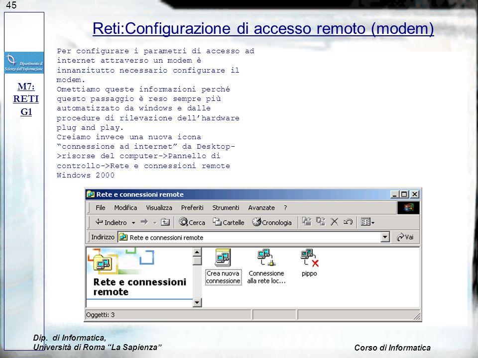 Reti:Configurazione di accesso remoto (modem)