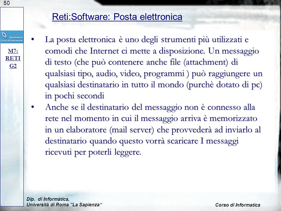 Reti:Software: Posta elettronica