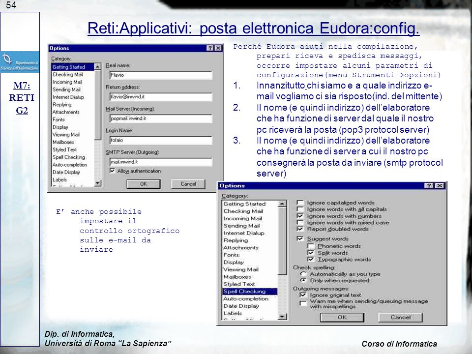 Reti:Applicativi: posta elettronica Eudora:config.