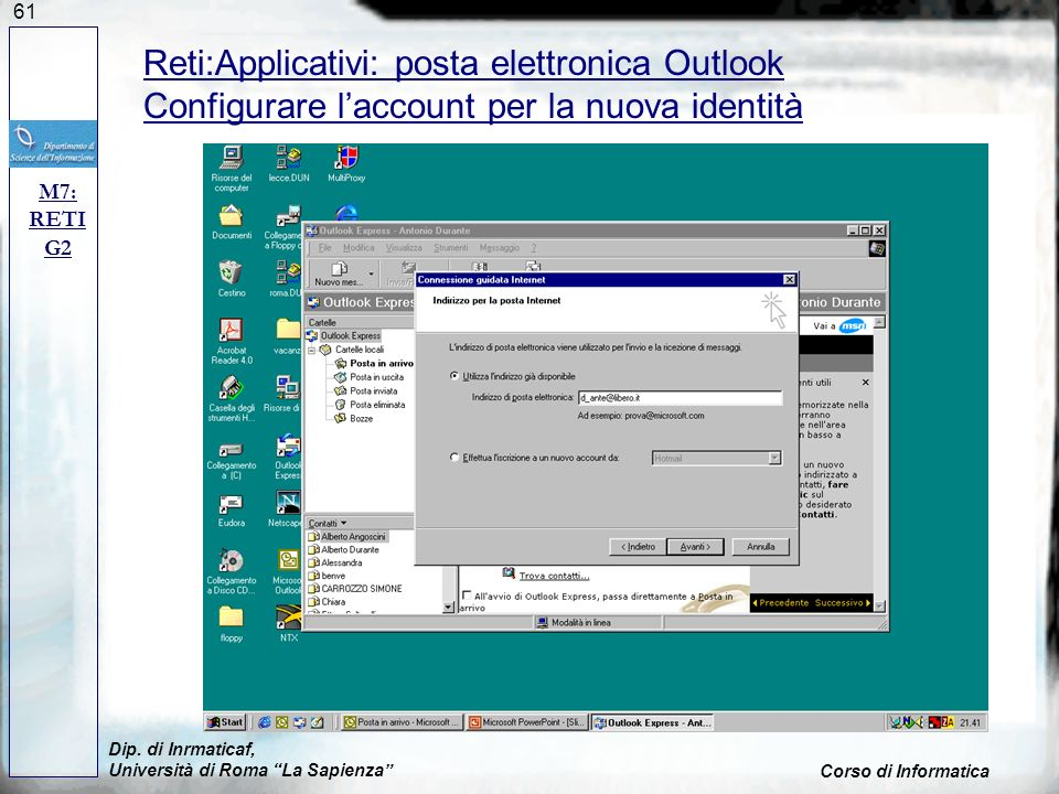 Reti:Applicativi: posta elettronica Outlook