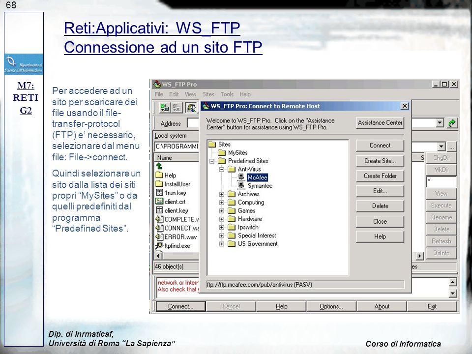 Reti:Applicativi: WS_FTP Connessione ad un sito FTP