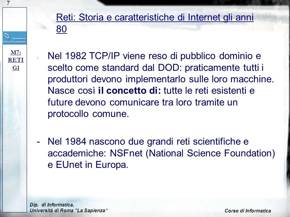 Reti: Storia e caratteristiche di Internet gli anni 80