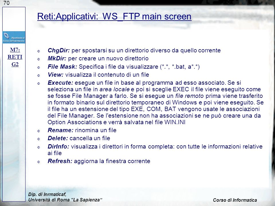 Reti:Applicativi: WS_FTP main screen