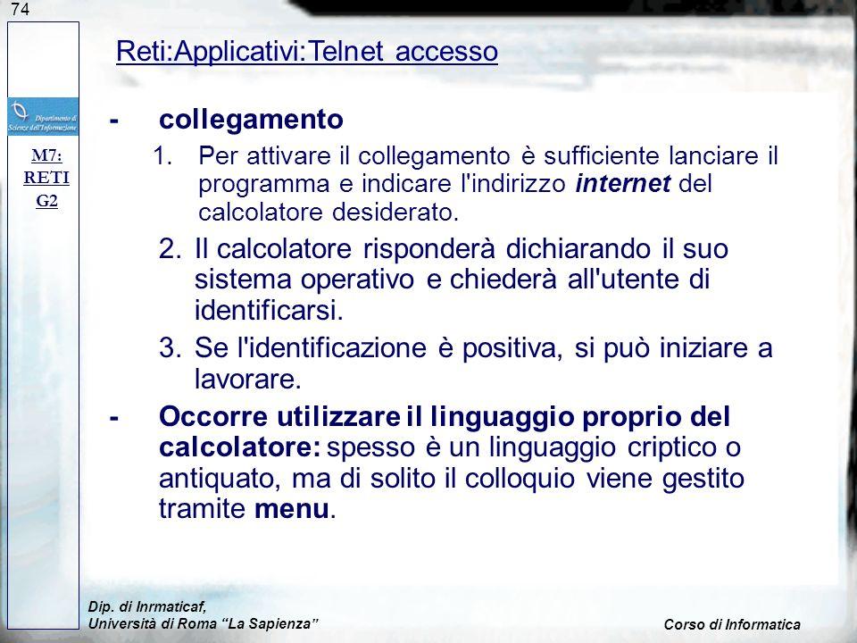 Reti:Applicativi:Telnet accesso