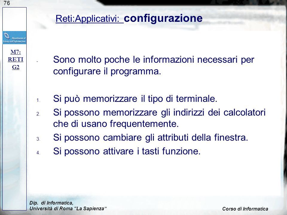 Reti:Applicativi: configurazione