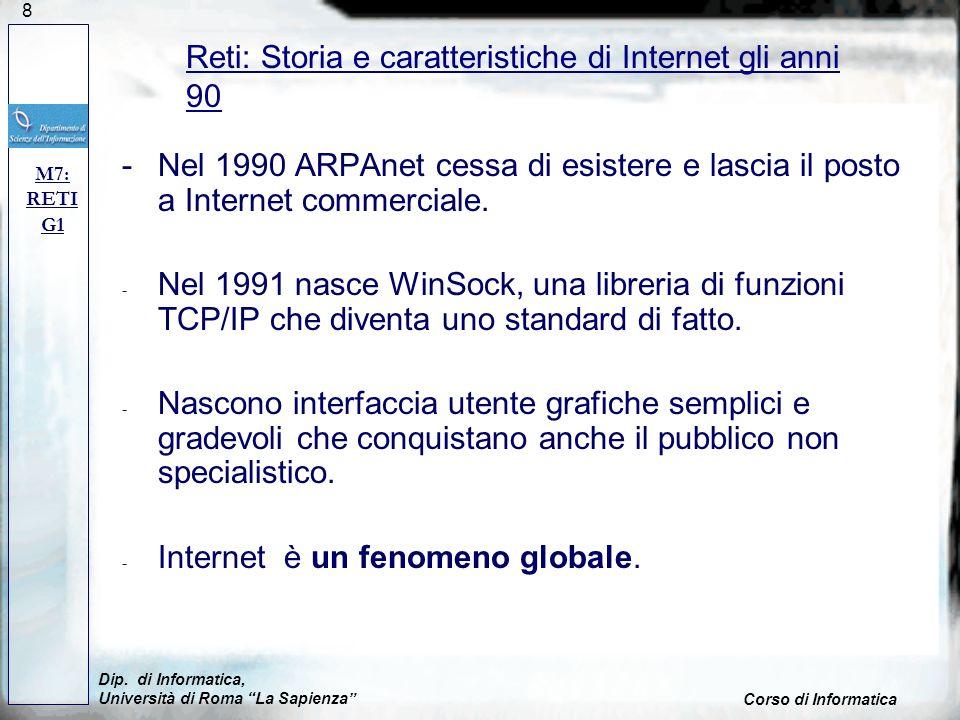 Reti: Storia e caratteristiche di Internet gli anni 90