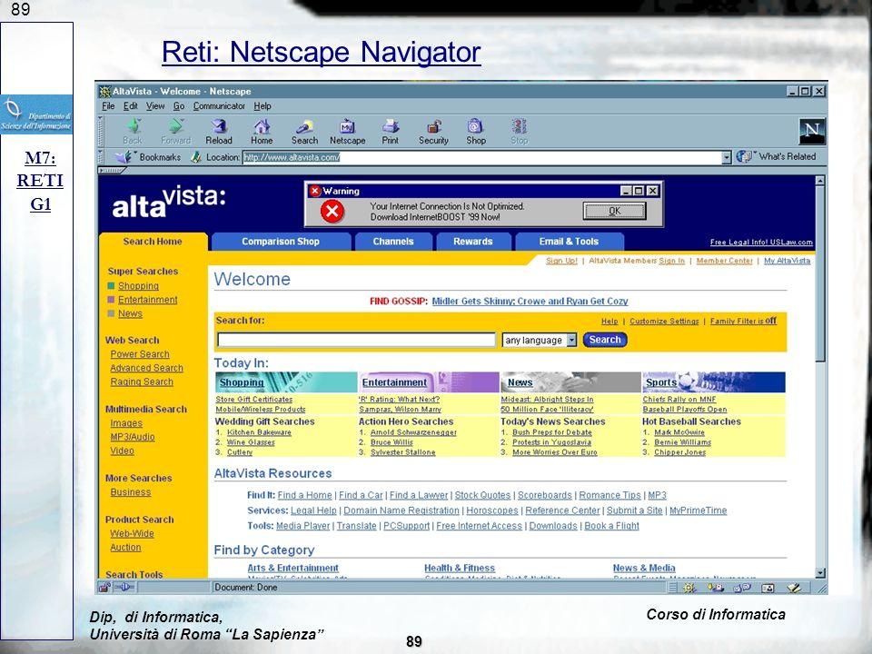 Reti: Netscape Navigator