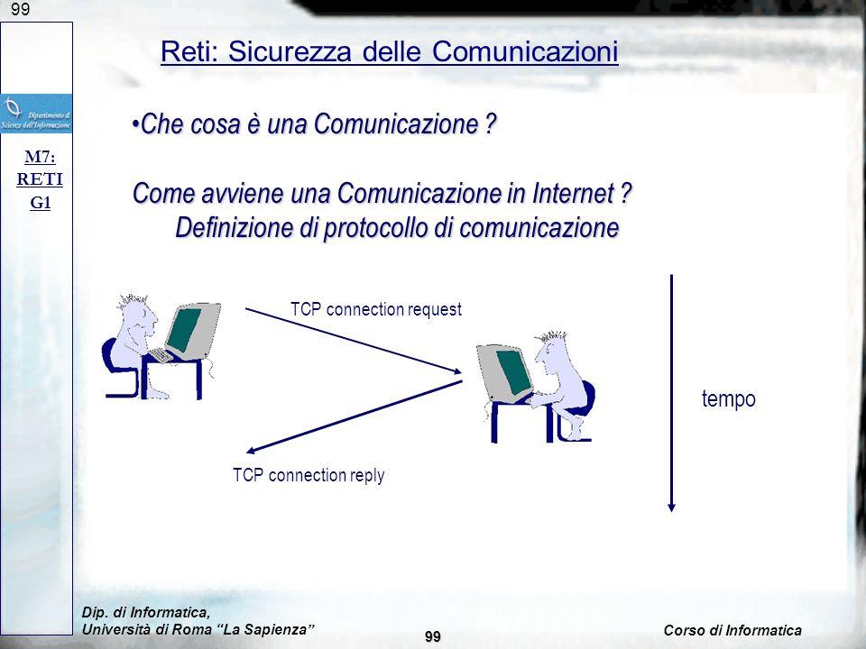 Reti: Sicurezza delle Comunicazioni