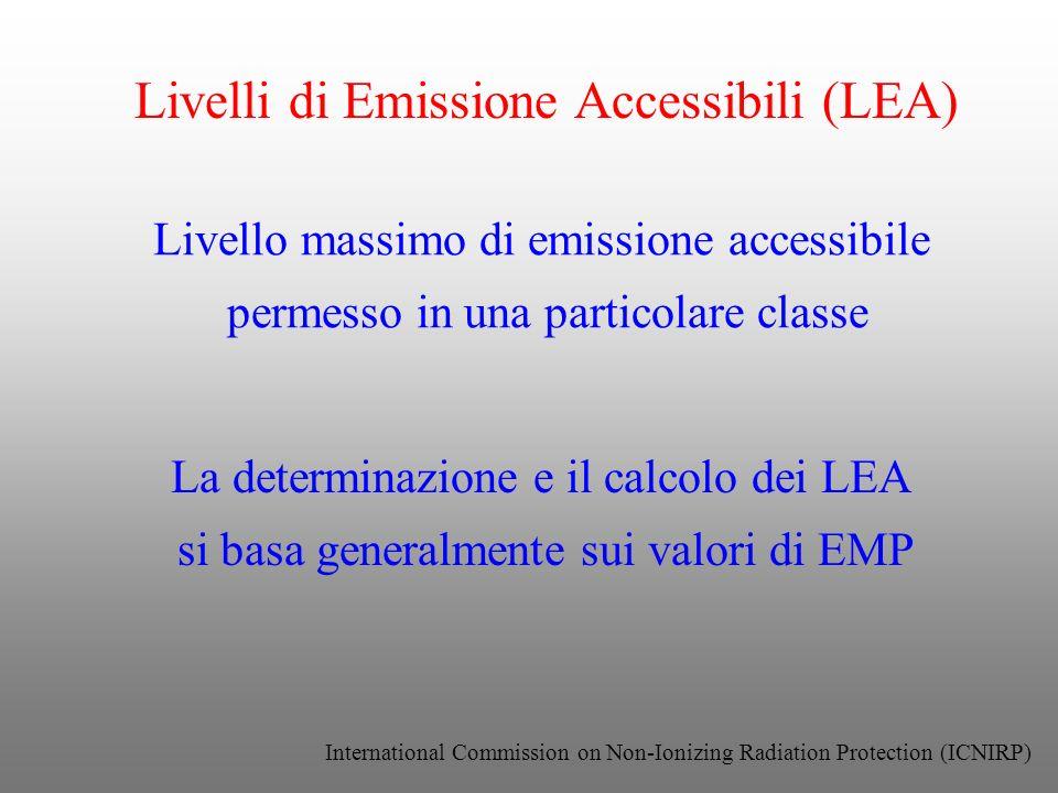 Livelli di Emissione Accessibili (LEA)