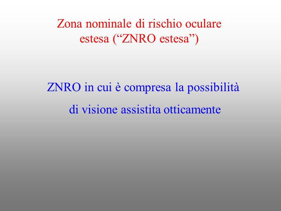 Zona nominale di rischio oculare estesa ( ZNRO estesa )