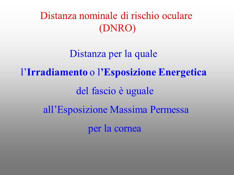 Distanza nominale di rischio oculare (DNRO)