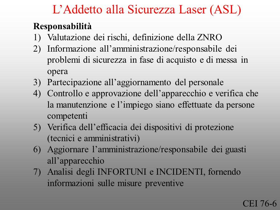 L'Addetto alla Sicurezza Laser (ASL)