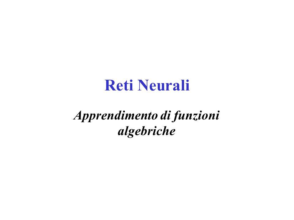 Apprendimento di funzioni algebriche