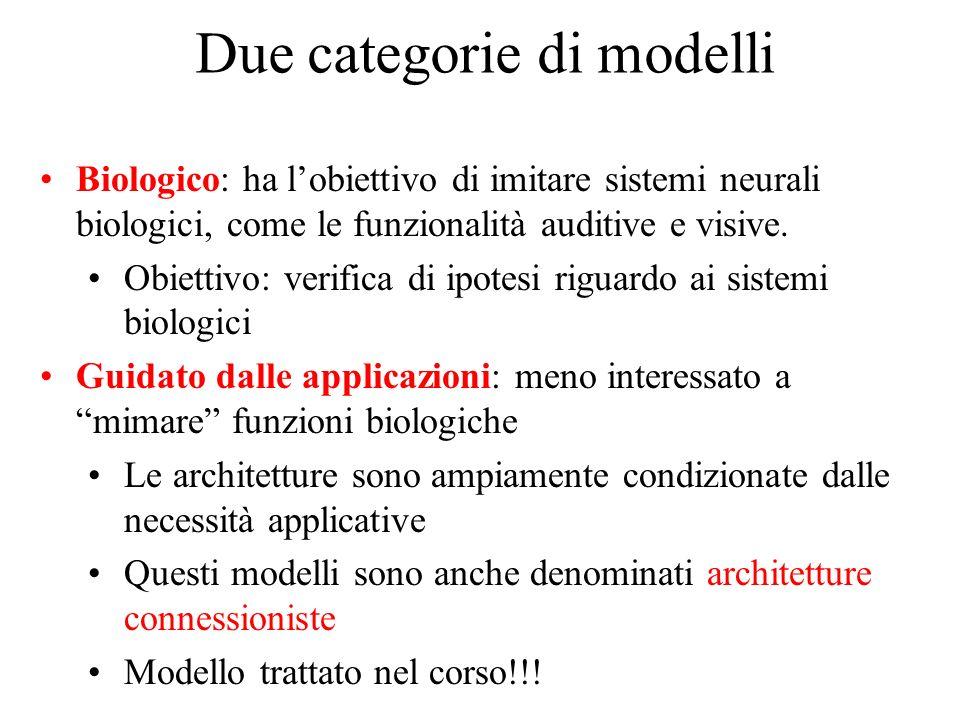 Due categorie di modelli