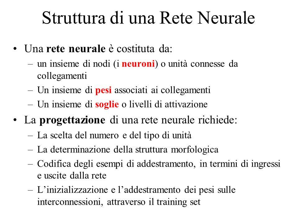 Struttura di una Rete Neurale